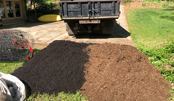 Side by Side: Mulch & Topsoil