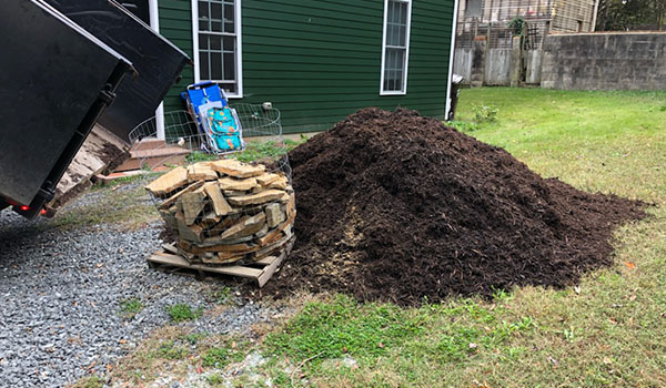 Side by Side: Flagstone & Mulch